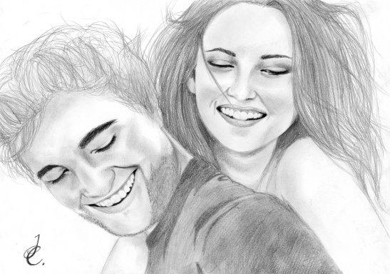 Kristen Stewart, Robert Pattinson por BengtIda